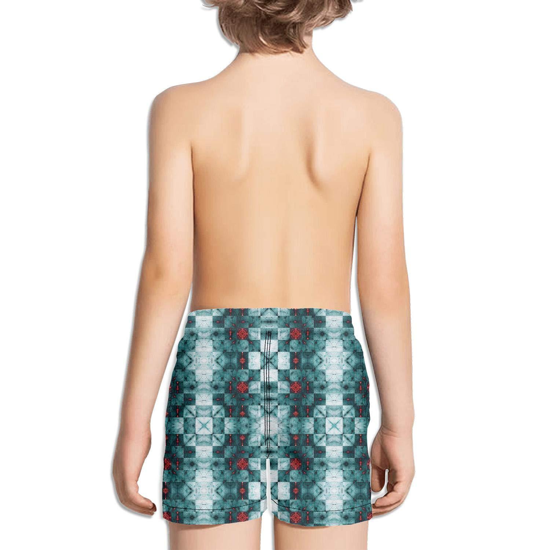 uejnnbc Checkerboard Like Texture Shattered Stars Retro Core Quick Dry Swim Shorts