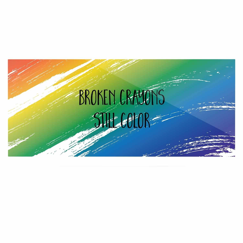 Kess InHouse NL Designs Broken Crayons Blue Abstract Luxe Rectangle Panel 24 x 36
