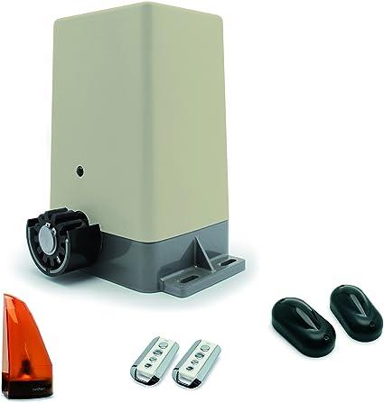 Avidsen 114452 Zenia - Motorización para puerta corrediza (12 V ...