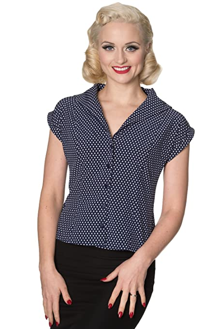 1950s Rockabilly & Pin Up Tops, Blouses, Shirts Dancing Days Lovely Day Blouse £21.99 AT vintagedancer.com