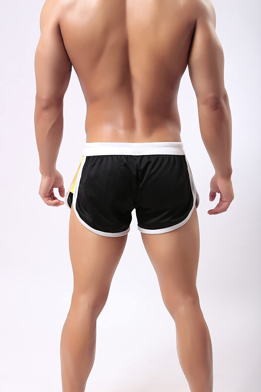 Idopy Men`s Loose Fit Sports Breathable Shorts Swimwear Trucks