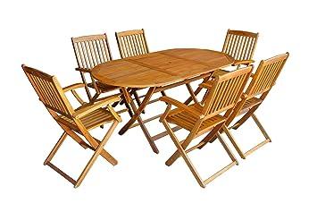 Amazonde Mcombo 7tlg Gartenset Balkonset Gartentisch Tisch Stuhl