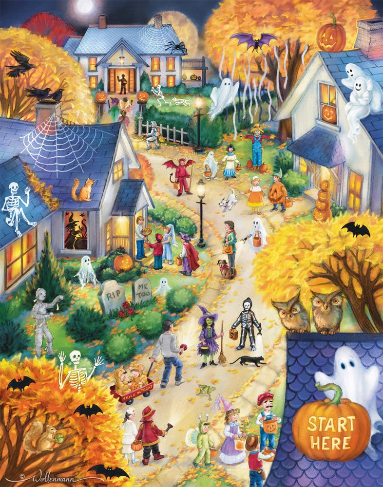 Vermont Christmas Company Halloween Town Countdown to Halloween Calendar & Game