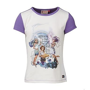 6f8a965ace556 Lego Wear Girl's Lego Elves Tanisha 491 T-Shirt Violett (Light Purple 611)