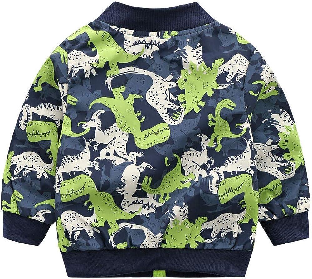 Goosuny Jungen Baby Sweatjacke Langarm Dinosaurier Print Winddicht Jacke Mantel Outwear /Übergangsjacke Herbst Winter Oberbekleidung Freizeitjacke Sport Sweatshirt
