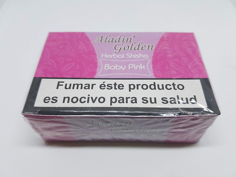 Aladin Golden Shisha (sin nicotina) para Cachimba 10 x 50g Sabor Chicle-Bubblegum ó Variado.