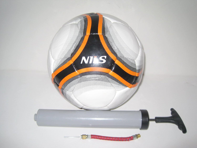 Nils fútbol Strike blanco/negro/naranja con bomba de: Amazon.es ...
