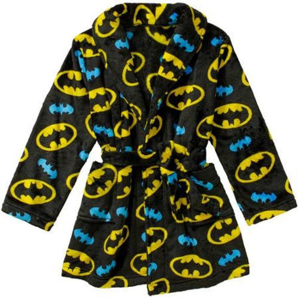 DC Comics Batman Little Boy Plush Bath Robe Bathrobe Pajama Size S 6/7