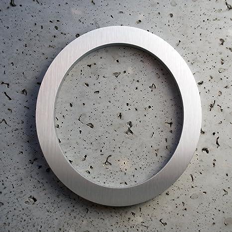 Amazoncom Modern House Numbers Brushed Aluminum Modern Font