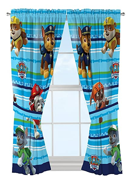 Nick Jr Paw Patrol Puppy Dog Fun Window Drapes, 82 x 63: Amazon.co ...