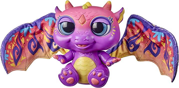 Habibi Plush Warm Toy Lucky Dragon Purple