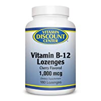 Vitamin Discount Center Vitamin B-12 1000 mcg, with Biotin and Folic Acid, Cherry...