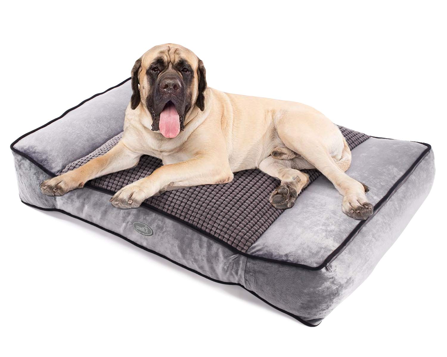 Doctors Foster and Smith Orthopedic Lounger Dog Bed in Khaki