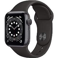 Apple Watch Series 6 (GPS, 40-mm) kast van spacegrijs aluminium - Zwart sportbandje