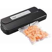 GERYON E2800-c Vakuumiergerät, Automatischer Lebensmittel Vakuumierer mit Starter Taschen & Rollen für Lebensmittel Aufbewahrung und Sous-Vide, schwarz