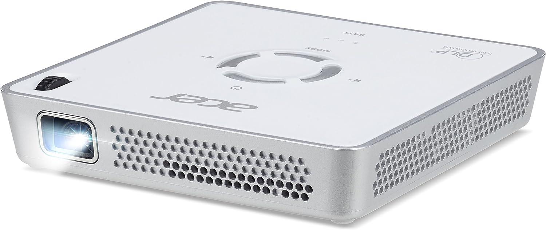 1.920 x 1.080 Pixel HDMI Full HD 5.000:1 Kontrast Keystone 5 Watt Lautsprecher , Audio Anschluss HDCP eingebauter Akku 300 ANSI Lumen Acer C250i DLP LED Beamer Portable // Mobil