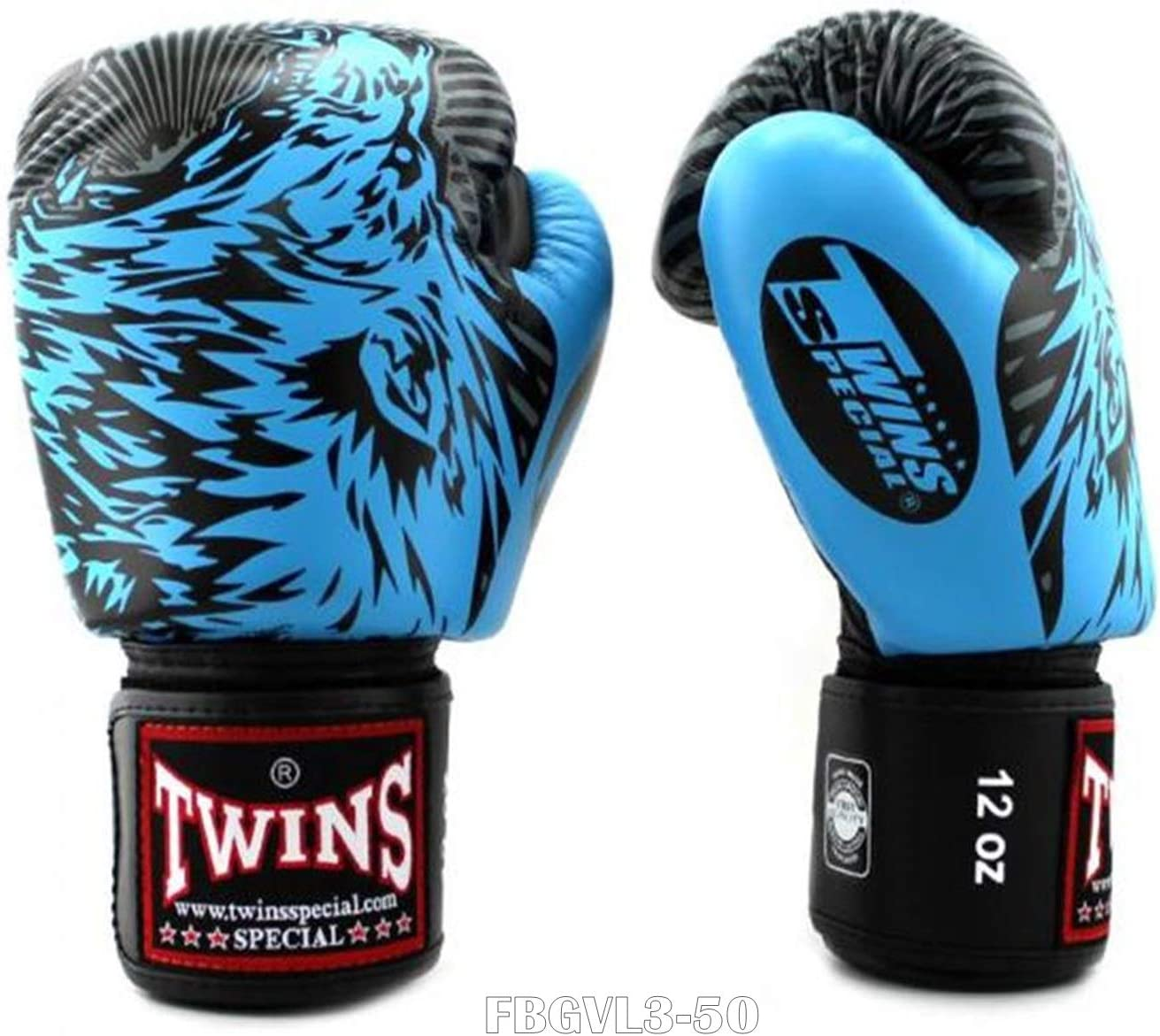 Twins New Boxing Gloves Fancy FBGVL3-50 White wolf 8,10,12,14,16 oz  MMA K1