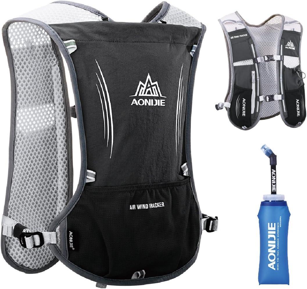 JEELAD 5L Running Hydration Vest Hydration Backpack for Marathon Jogging Biking Cycling