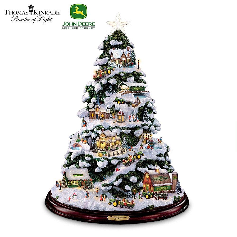 Amazon.com: Thomas Kinkade Tabletop Christmas Tree: John Deere ...