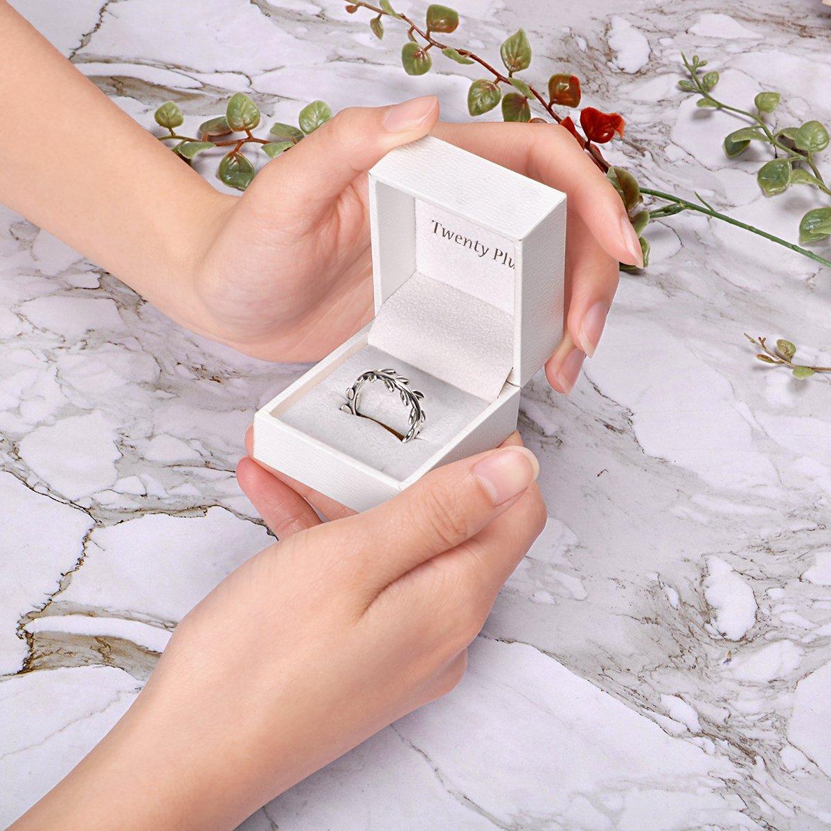 Twenty Plus Simple Sterling Silver Laurel Wreath Finger Ring Gifts For Women & Girls by Twenty Plus (Image #5)
