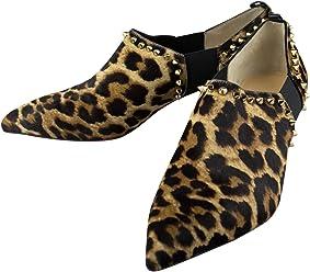 26d6747887c CHRISTIAN LOUBOUTIN Leopard Pony Hair Vicky 45 Ankle Boots 9 US 39 EU