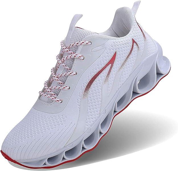 Jsleap Sneakers Herren Damen Unisex Weiß