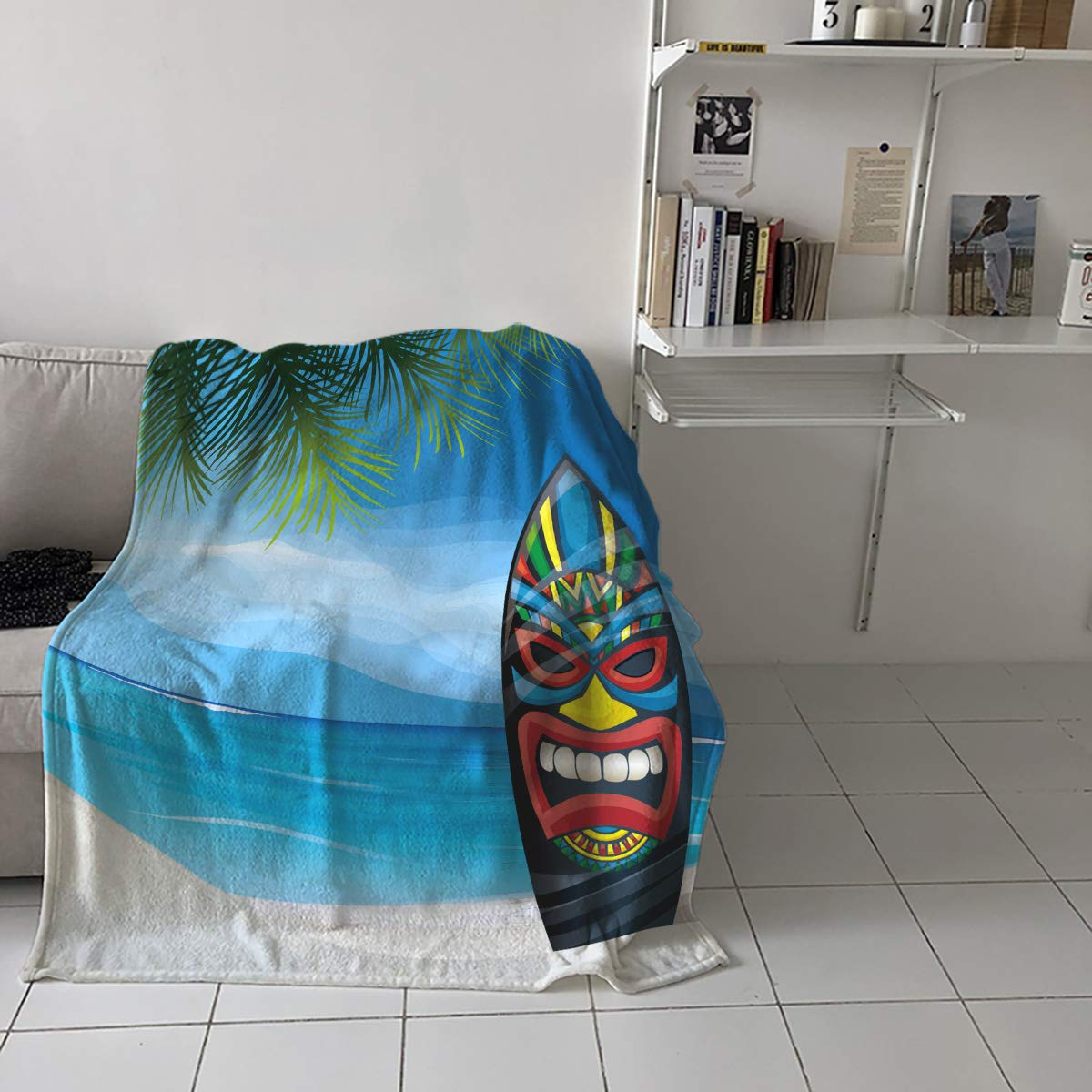 Amazon.com: DCGARING Flannel Fleece Throw Blanket Microfiber ...