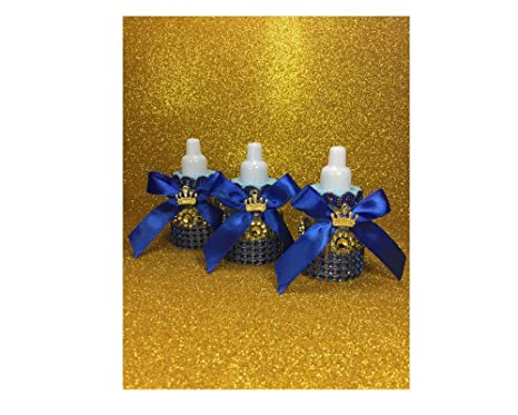 Image Unavailable. Image not available for. Color  Party Supply 12 Royal  Blue and Gold Little Prince Baby ... b63039d41
