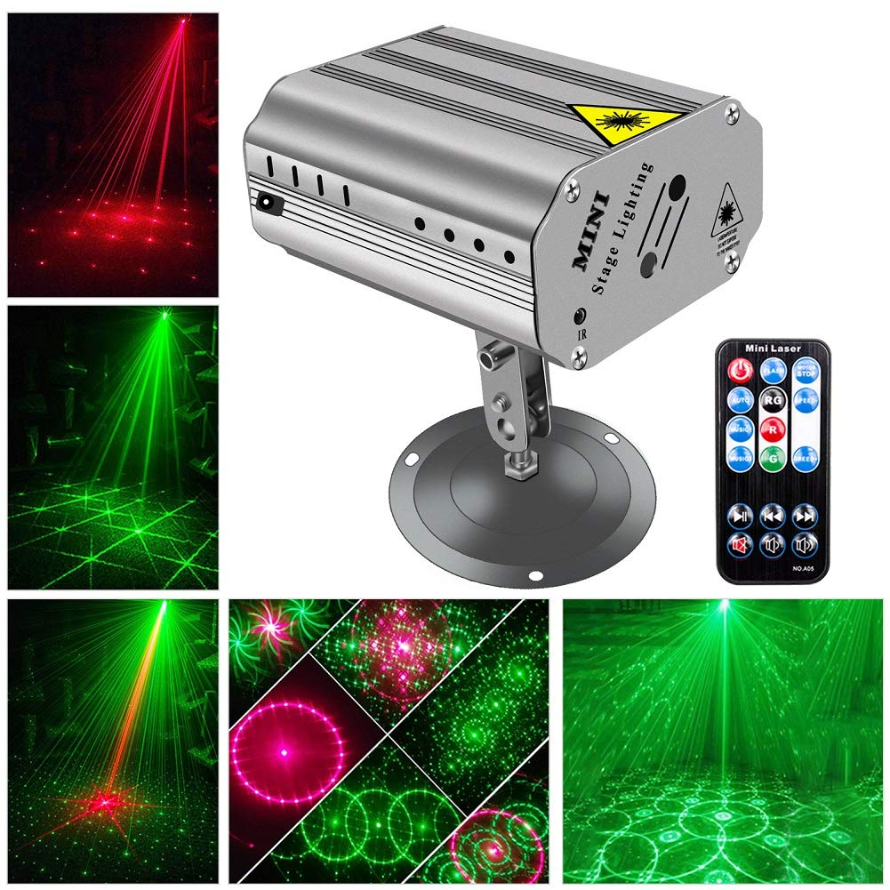 DJ Disco Lights Party Lights, U`King LED Projector Stage Light with Music Strobe Light by Remote Control Great for Dancing Club Bar Pub Lighting by U`King
