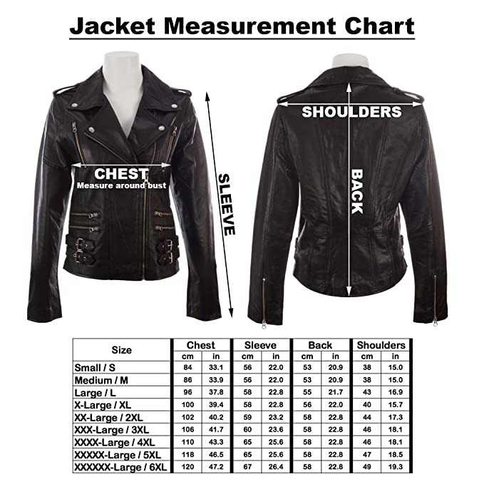 MDK Womens Super Soft Real Leather Asymmetric Multi Zip Fitted Biker Jacket by