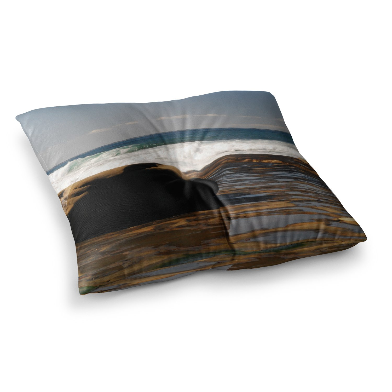 Kess InHouse Nick Nareshni The Lone Rock Brown Blue 23 x 23 Square Floor Pillow