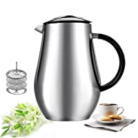 Sailnovo 1L/34oz Cafetiere Vacuum Insulated Coffee Tea Maker Deals