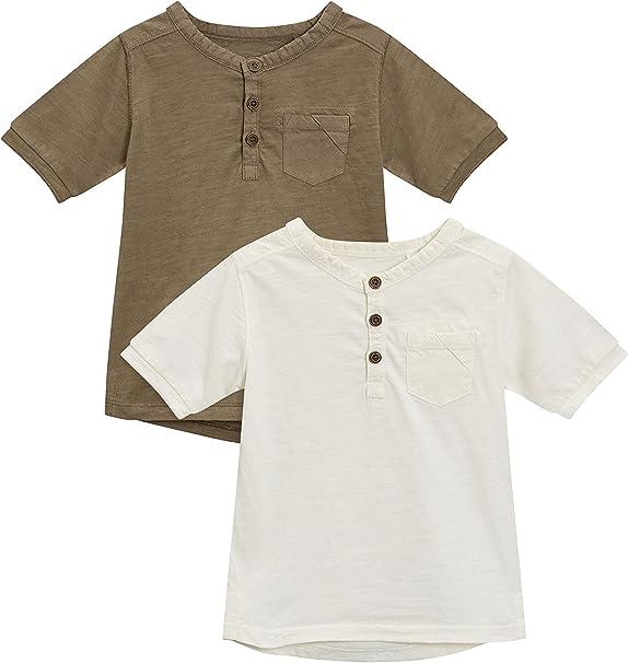 next Niños Pack De Dos Camisetas De Manga Corta con Cuello Henley Teñidas (3 Meses - 6 Años) Caqui/Crudo 5-6 años: Amazon.es: Ropa y accesorios