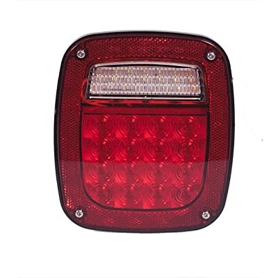 Maxxima M42220 Three Stud Box Style Multi-Function Stop Tail Turn & Back Up LED Light: Automotive