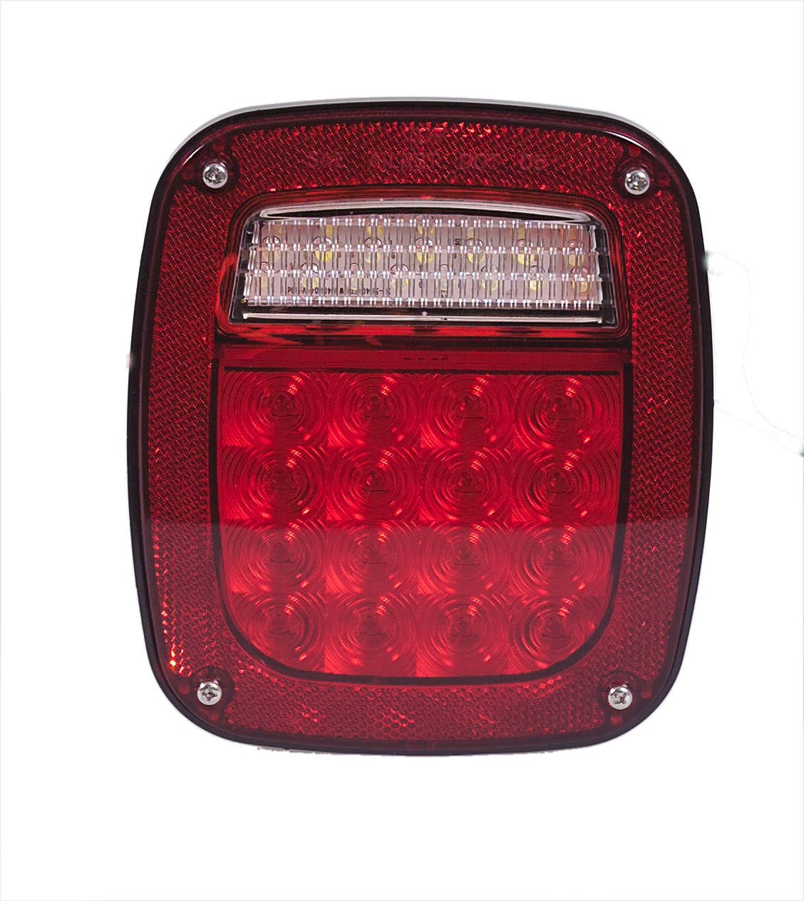 Maxxima M42220 Three Stud Box Style Multi-Function Stop Tail Turn & Back Up LED Light by Maxxima