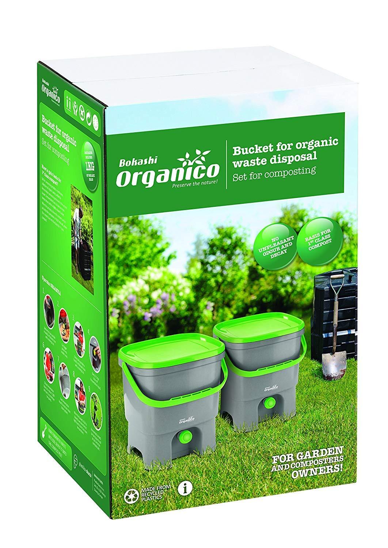 Skaza mind your eco Bokashi Organico Kitchen composter White//Light Green