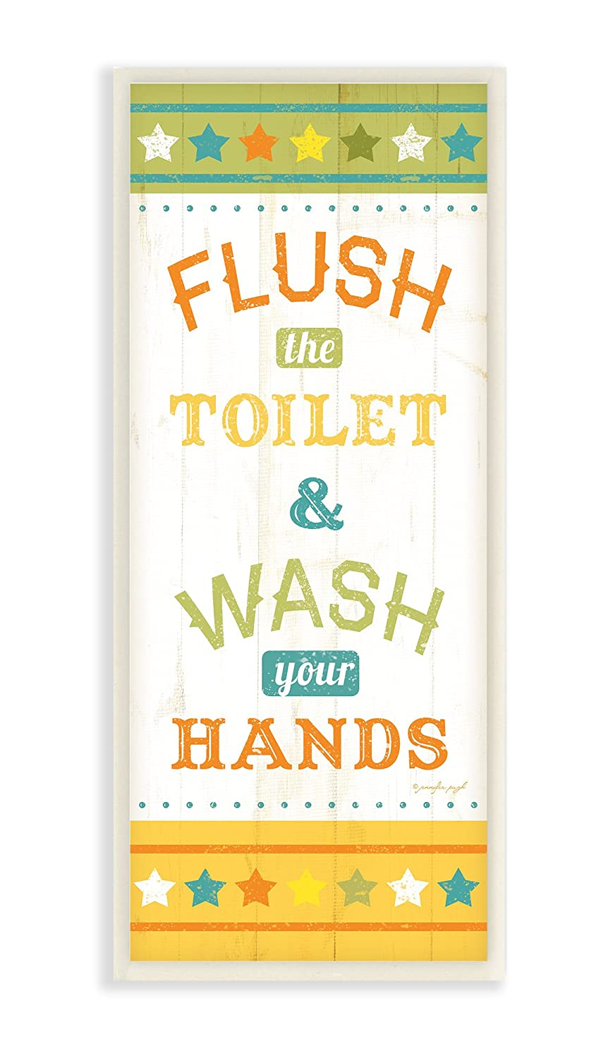 Amazon.com: Stupell Home Décor Flush The Toilet And Wash Your Hands ...