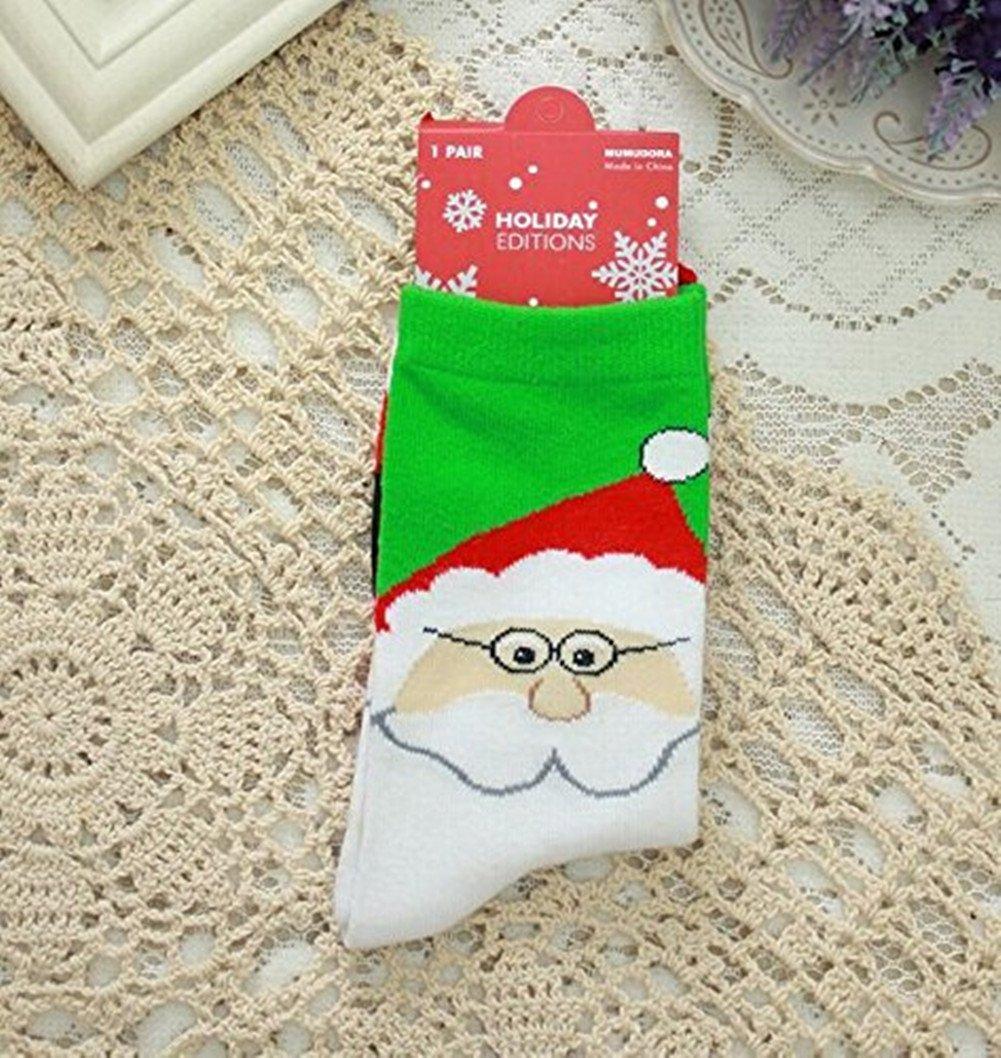 CAOLATOR Calcetines Algod/ón Navidad Mujer Ni/ñas Oto/ño e Invierno M/ás Gruesos Calcetines de C/álidos Calcetines Mediano Largos Lindos Navidad Accesorios-Estilo B