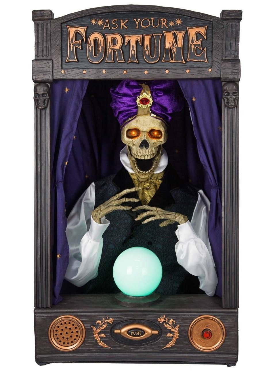 Halloween Animated Skeleton Fortune Teller