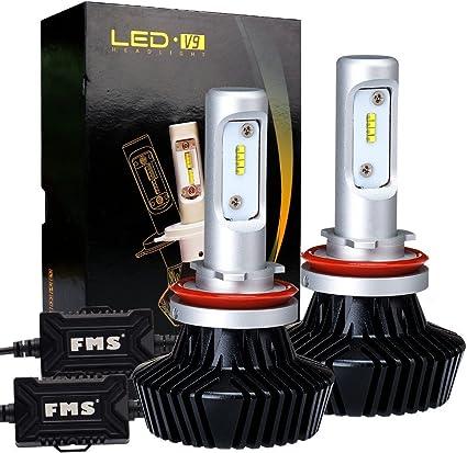 H7 LED Headlight Kit Fanless 50W 8000LM CSP High Low Beam Fog Light Bulbs 6500K