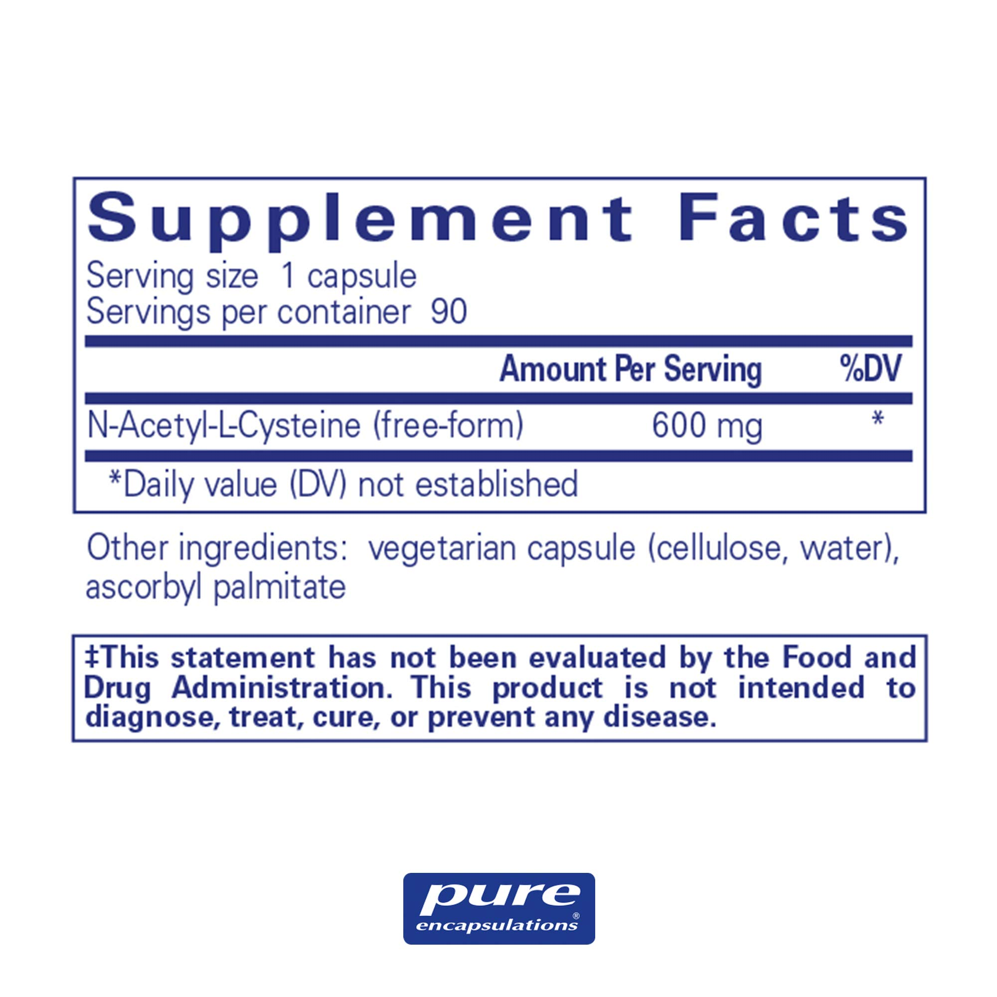 Pure Encapsulations - NAC (N-Acetyl-L-Cysteine) 600 mg - Amino Acids to Support Antioxidant Defense and Healthy Lung Tissue - 90 Capsules by Pure Encapsulations (Image #2)