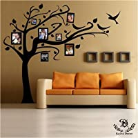 Kayra Decor Plastic Family Wish Tree Reusable Wall Stencil in (Multicolour 63x70-inch)