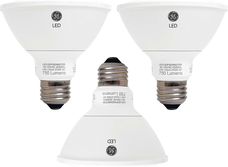 GE Lighting 89988 Energy-Smart LED 12-watt, 850-Lumen PAR30 Bulb with Medium Base, Soft White
