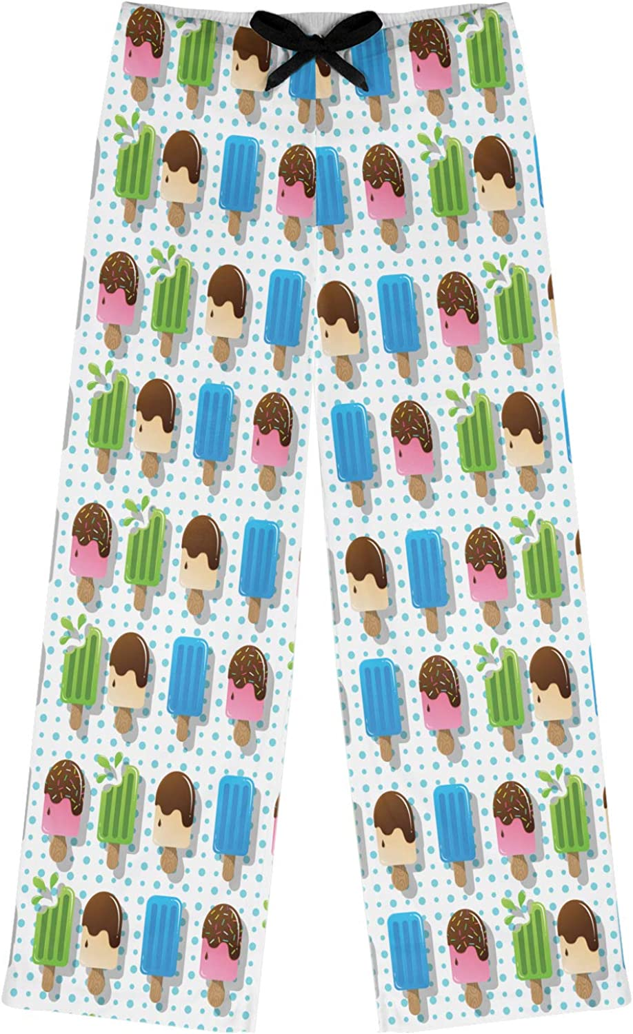 Blue Personalized RNK Shops Popsicles and Polka Dots Womens Pajama Pants XS