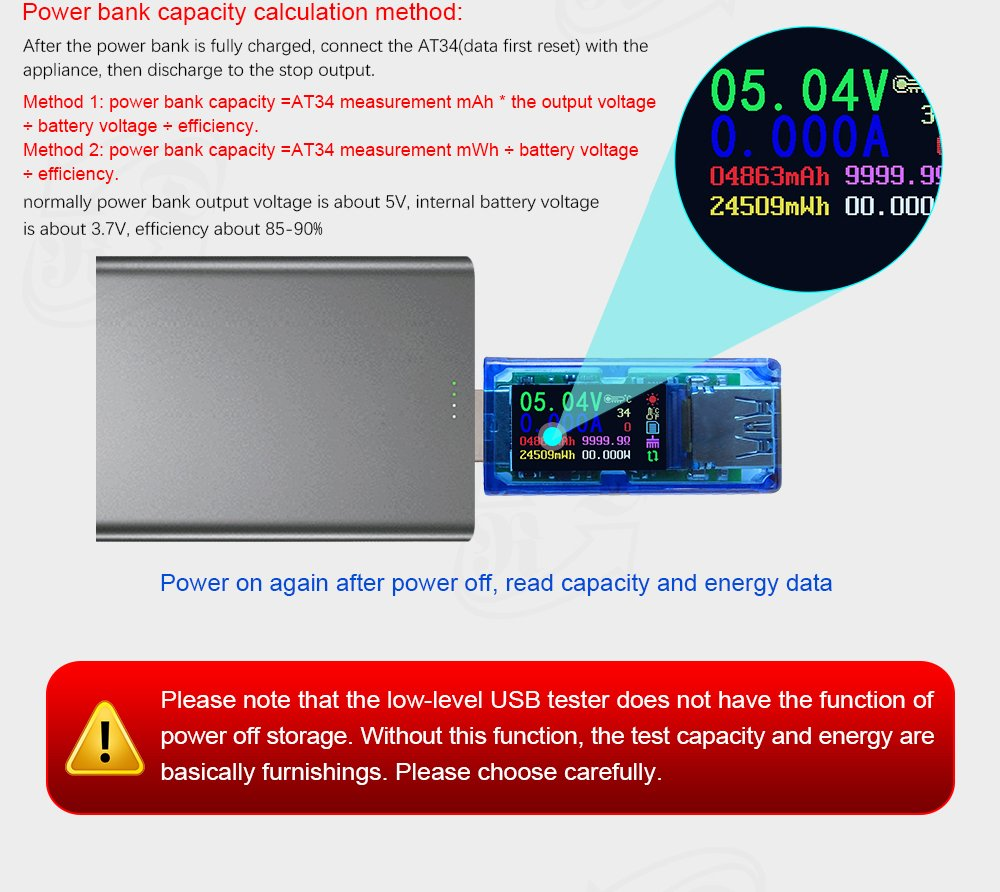 KKmoon Multifunktionale USB3.0 Tester 【Spannung//Strom Power//Batterieladungsmesser Farbe LCD Display】