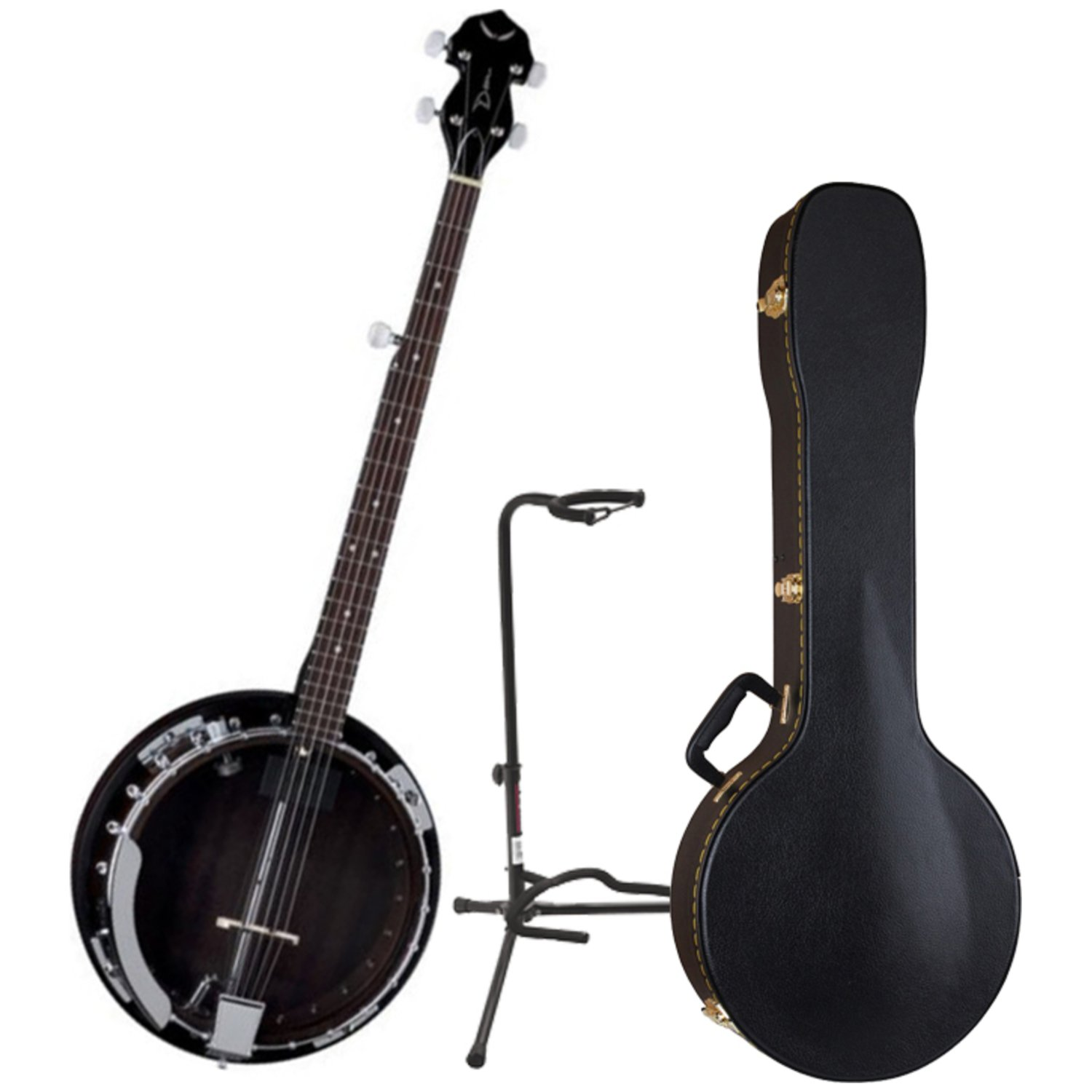 Dean BW2E Backwoods Electric Banjo w/ Case and Stand by Dean Guitars