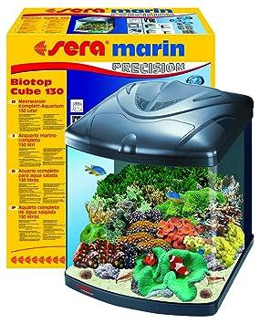 Sera 31100 Marin Mondi Biotop Cube 130 un 130 L de agua del mar acuario Completo