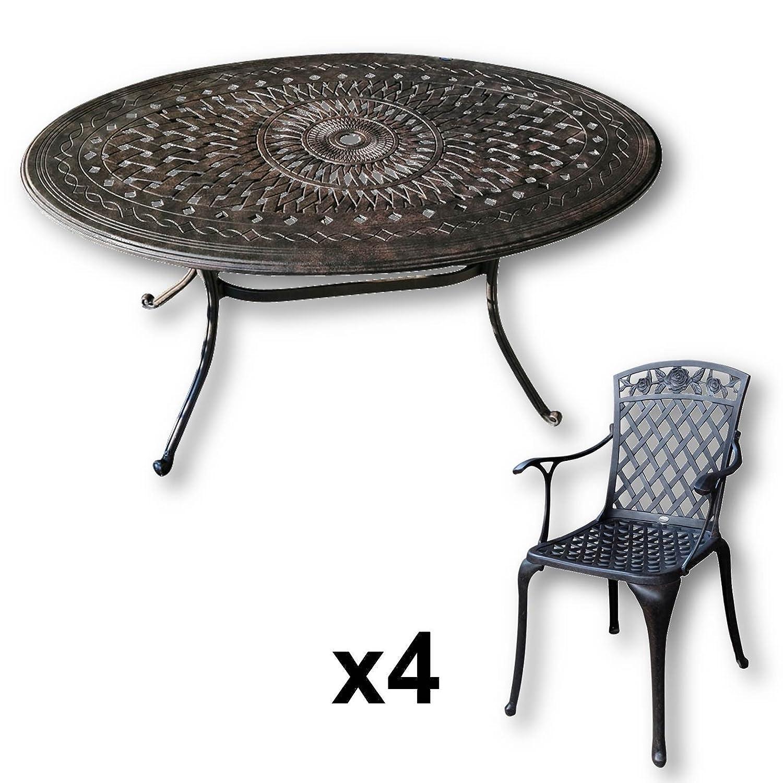 Lazy Susan Emily 150 X 95 Cm Ovaler Gartentisch Mit 4 Stuhlen