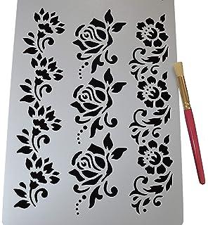 Stencil Shabby Chic Da Stampare.The Stencil Studio Trailing Ivy Reusable Wall Stencil For Home