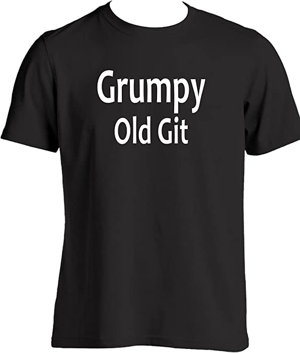 ff17725f7 Grumpy Old Git Mens Funny T Shirt present for dad grandad funny t shirt  slogan novelty gifts Birthday Christmas Gifts (S, Black): Amazon.co.uk:  Clothing